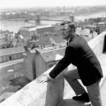 Kirk Douglas 1966-ban Budapesten. Fotó: MTI/EPA