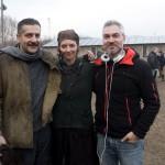 Csányi Sándor, Gera Marina és Szász Attila rendező az Örök tél című film forgatásán. Fotó: MTI/Koszticsák Szilárd