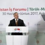 Orbán Viktor miniszterelnök beszédet mond a magyar-török üzleti fórumon Ankarában 2017. június 30-án.<br /> MTI Fotó: Koszticsák Szilárd