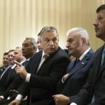 Orbán Viktor magyar (j3) és Binali Yildirim török (j2) kormányfő magyar-török üzleti fórumon Ankarában 2017. június 30-án.<br /> MTI Fotó: Koszticsák Szilárd