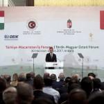Szijjártó Péter külgazdasági és külügyminiszter beszédet mond a magyar-török üzleti fórumon Ankarában 2017. június 30-án.<br /> MTI Fotó: Koszticsák Szilárd
