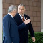 Binali Yildirim török miniszterelnök (b) fogadja Orbán Viktor magyar kormányfőt a magyar-török kormányzati konzultáció előtt Ankarában 2017. június 30-án.<br /> MTI Fotó: Koszticsák Szilárd