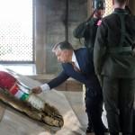 Orbán Viktor miniszterelnök megkoszorúzza Mustafa Kemal Atatürk sírját az Anitkabirban, a modern Törökország alapító atyjaként tisztelt államférfi mauzóleumában 2017. június 30-án.<br /> MTI Fotó: Koszticsák Szilárd