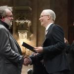 Csuja Imre színművész átveszi a Magyarország Kiváló Művésze díjat (MTI-fotó: Koszticsák Szilárd)