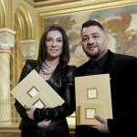 A Máté Péter-díjas Rúzsa Magdolna és Molnár Ferenc Caramel (MTI-fotó: Koszticsák Szilárd)