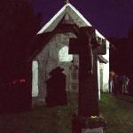 Csíksomlyó 2001. június 8.<br /> A Kissomlyó-hegyen álló kápolna (MTI-fotó: T. Asztalos Zoltán)