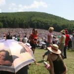 Csíksomlyó, 2007. május 26. Szentmise Romániában, a Kárpát-medence egyik legnagyobb tömegeket megmozgató magyar egyházi rendezvényén, a pünkösdszombati csíksomlyói búcsúban (MTI-fotó: Haáz Sándor)