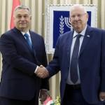 Reuven Rivlin izraeli elnök (j) fogadja Orbán Viktor miniszterelnököt az elnöki rezidencián Jeruzsálemben 2018. július 19-én (Fotó: MTI/ Koszticsák Szilárd)