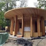 Pavilon a Liget Budapest Projekt keretében megújuló Vakok kertjében, a Városligetben<br /> (MTI/Máthé Zoltán)