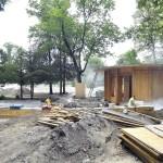 A Liget Budapest Projekt keretében megújuló Vakok kertje a Városligetben<br /> (MTI/Máthé Zoltán)