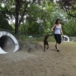 A Liget Budapest Projekt keretében kialakított, idén májusban átadott kutyás élménypark. Az élménypark megnyitásával több mint ötezer négyzetméterrel bővült a park zöld területe.<br /> (MTI/Máthé Zoltán)