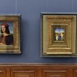 Balról Raffaello Santi Ippolito d'Este bíboros fiatalkori képmása, mellette Raffaello Sanzio Esterházy Madonna című festménye<br /> (MTI/Máthé Zoltán)