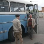 Simon Pál, a régi buszok megmentője (Fotó: hirado.hu/Szilágyi Levente)