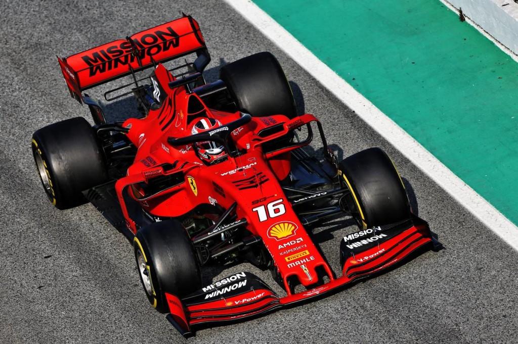 Leclerc volt a leggyorsabb, a második tesztnap is a Ferrarié