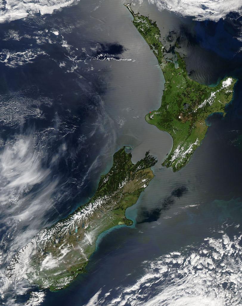 Új-Zéland (Fotó: NASA)