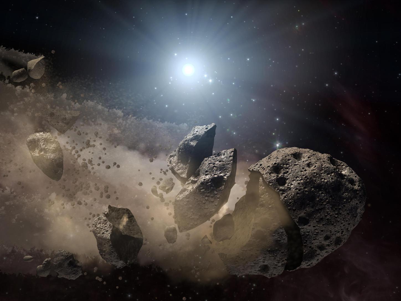 Illusztráció - széttöredező aszteroida (Fotó: NASA/JPL/Caltech)