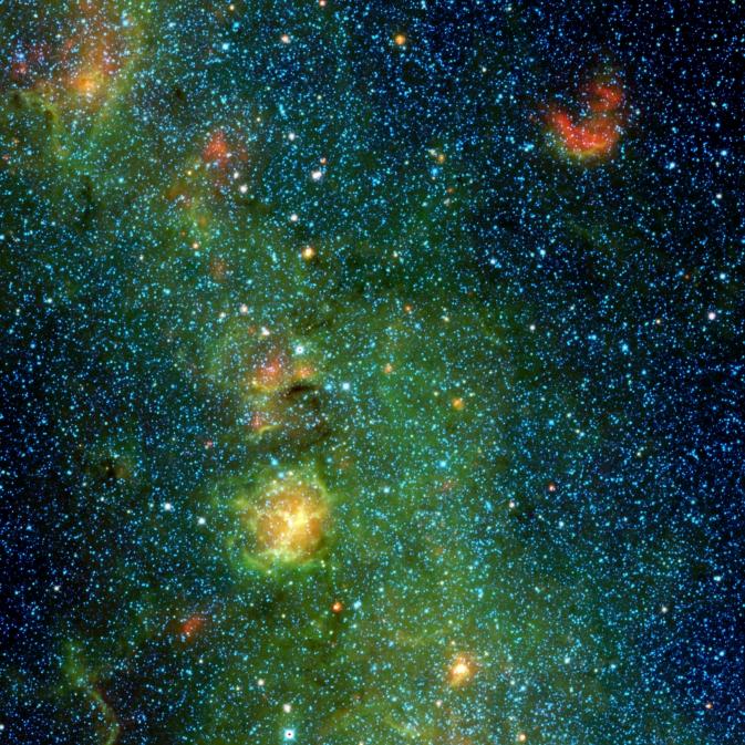Trifid-köd (Fotó: NASA/JPL-Caltech/UCLA)