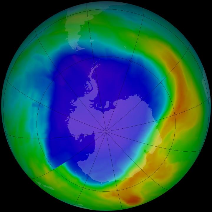 Ózonlyuk 2013-ban (Fotó: NASA)