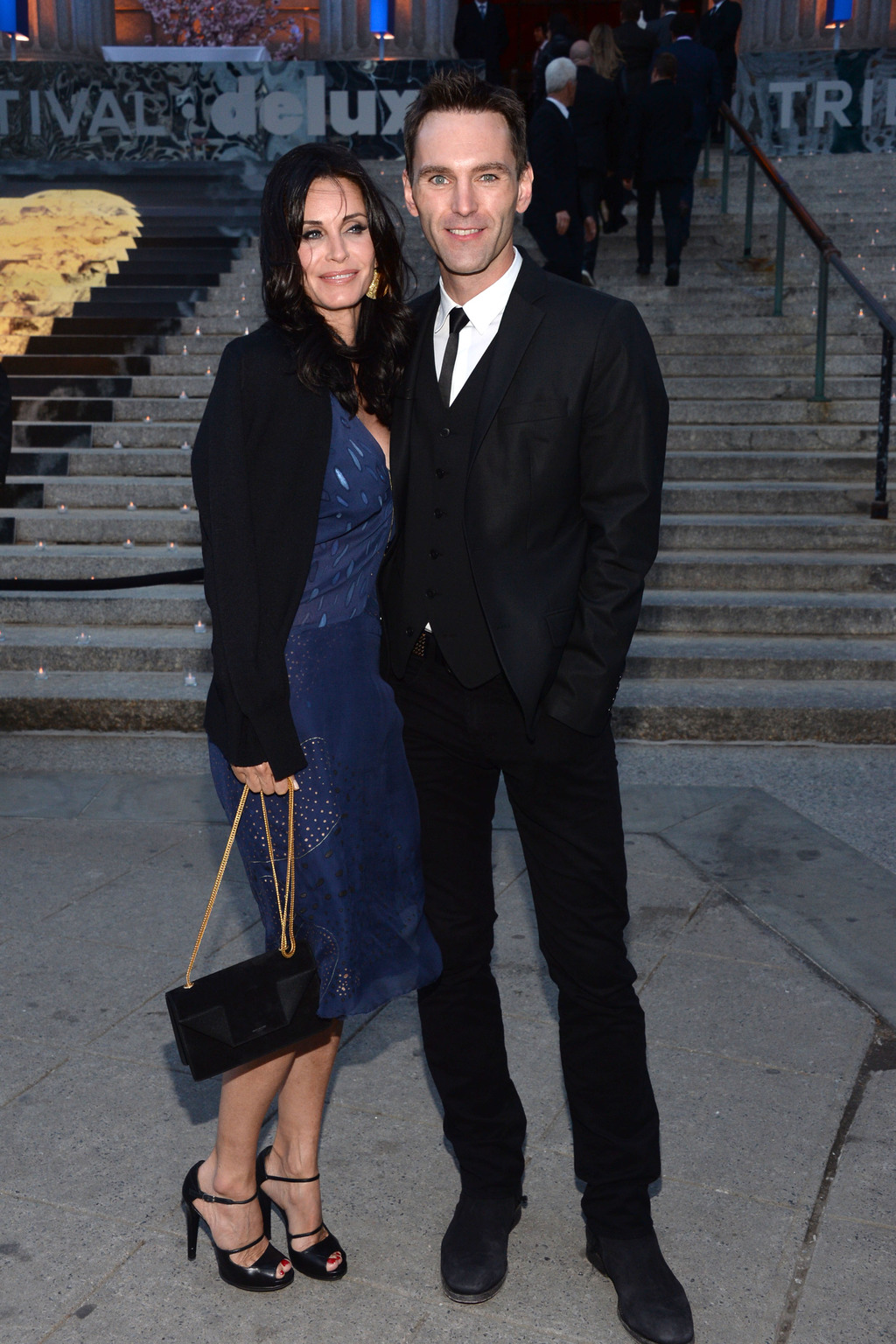 Johnny McDaid és Courteney Cox. Fotó: Sipa USA