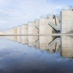 Tunyogmatolcs, 2014. november 7. A Szamos-Kraszna-közi árvízszint-csökkentő tározó Tunyogmatolcs határában 2014. november 7-én, az átadása napján. MTI Fotó: Balázs Attila