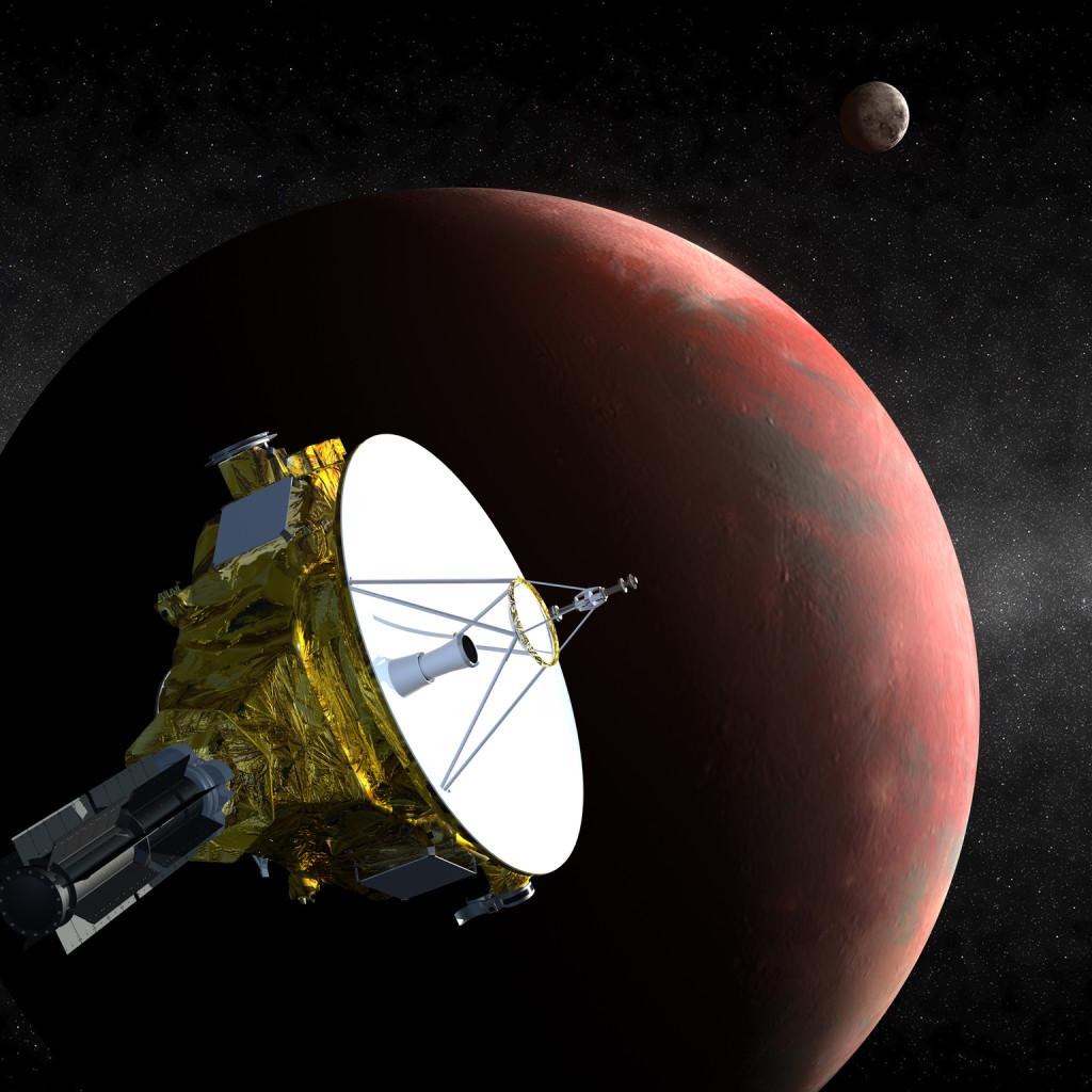 Koncepciórajz a New Horizons szondáról a Plútó felé közeledve. (Fotó: NASA/Johns Hopkins Egyetem Alkalmazott Fizikai Laboratórium/Southwest Research Institute)