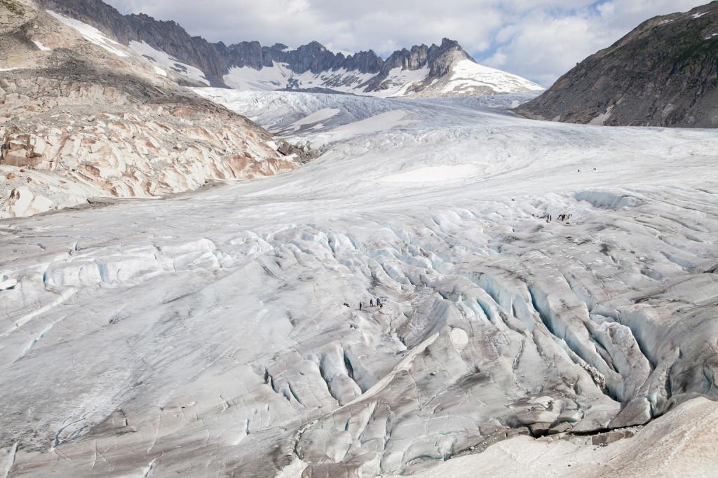 A Rhône-gleccser a svájci Alpokban (Fotó: AFP)