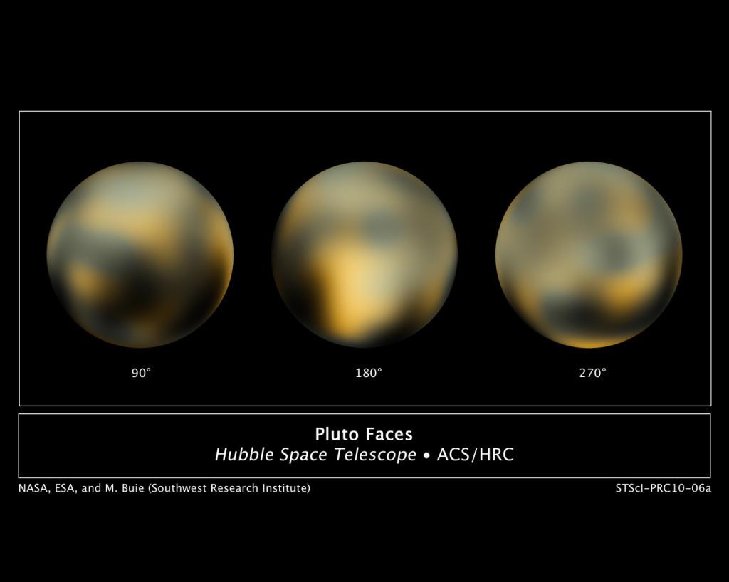 Az eddigi legjobb kép a Plútó felszínéről a Hubble 2002-2003-as Plútó-fotói alapján. (Fotó: NASA, ESA, M. Buie - Southwest Research Institute)