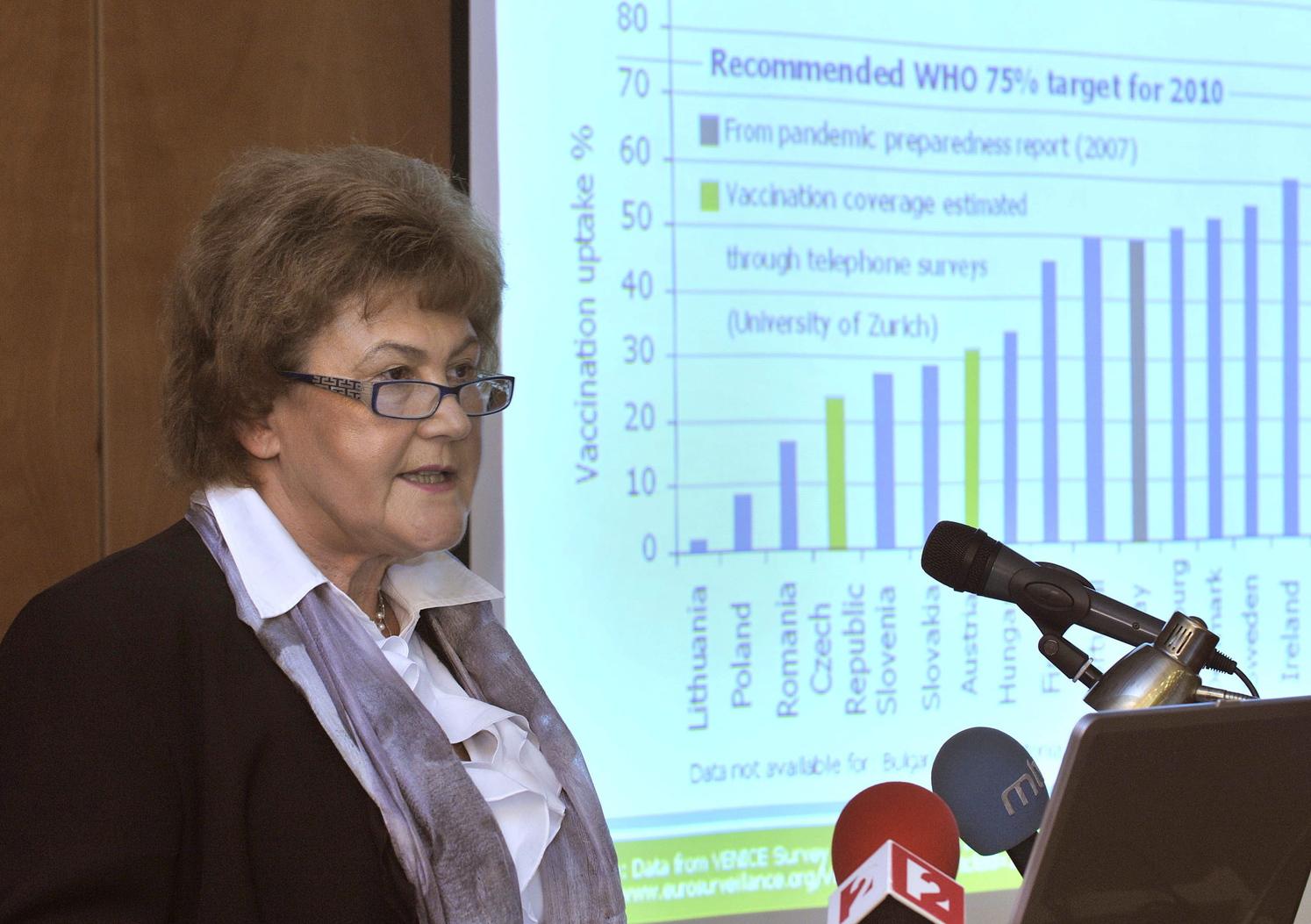 Jakab Zsuzsanna, az Egészségügyi Világszervezet (WHO) közelmúltban kinevezett magyar főigazgató-helyettese (Fotó: MTI)