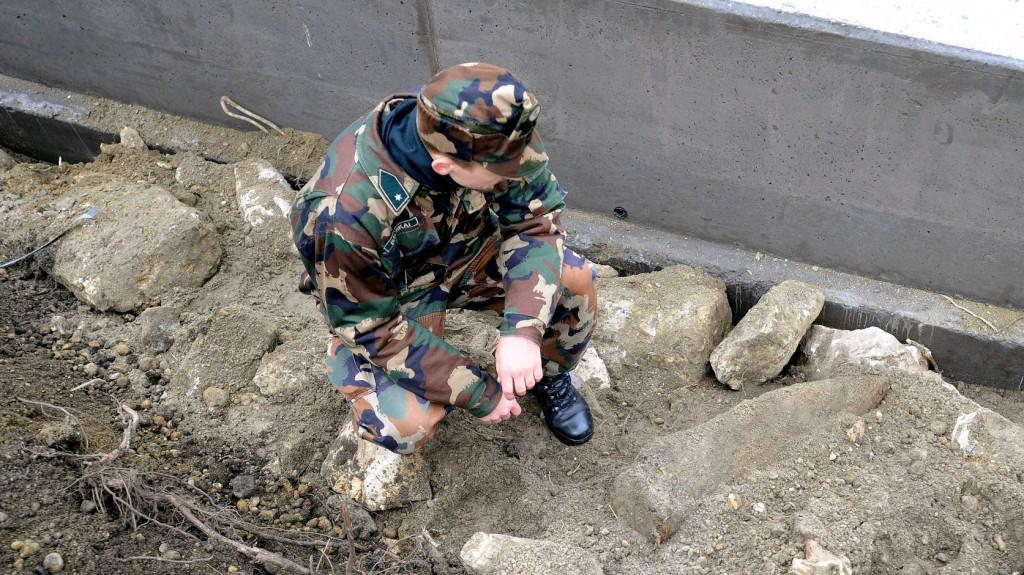 Világborús aknákat találtak egy kiskunmajsai óvoda udvarán