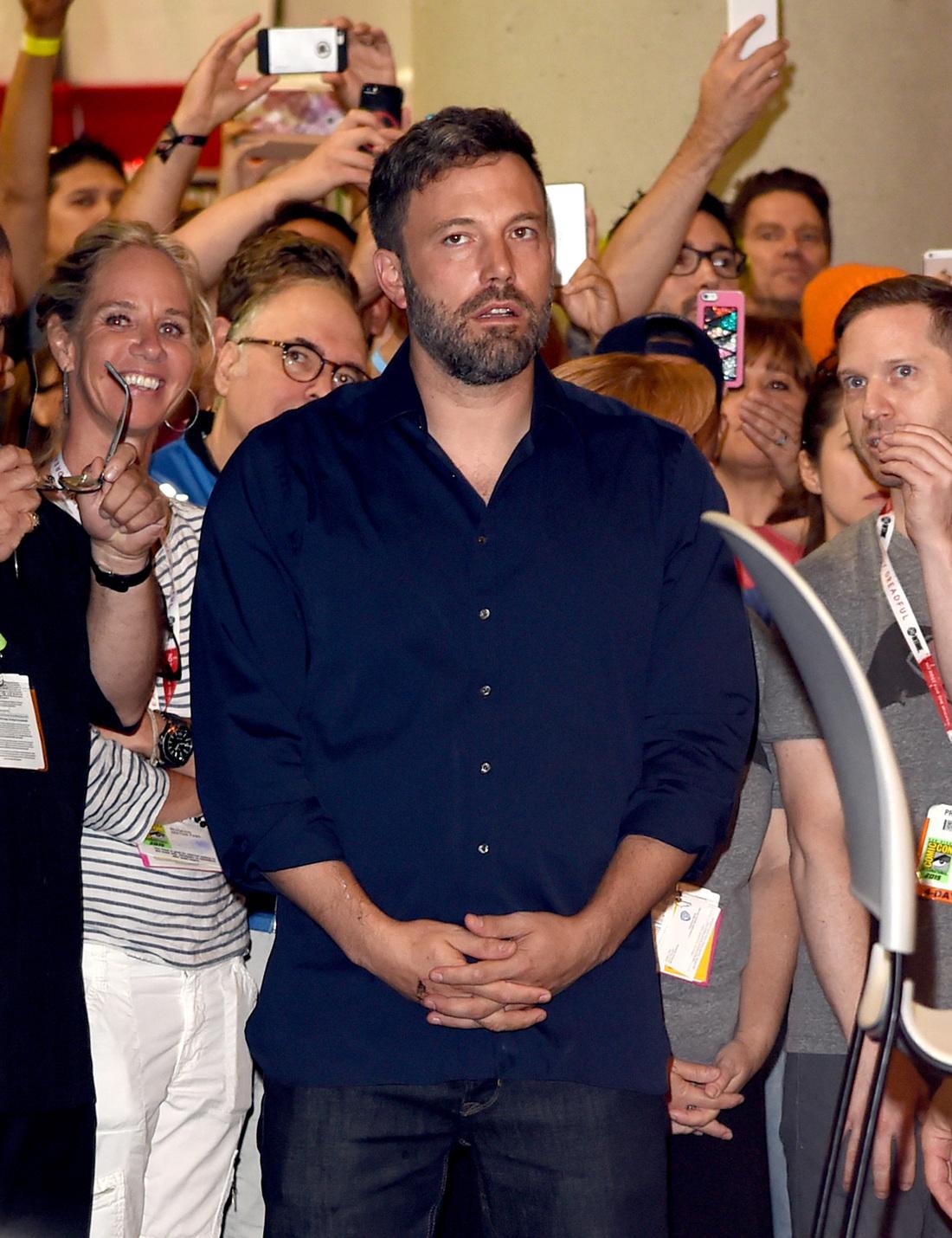 Ben Affleck a Comic-Con-on is mélabús volt. Fotó: GC Images
