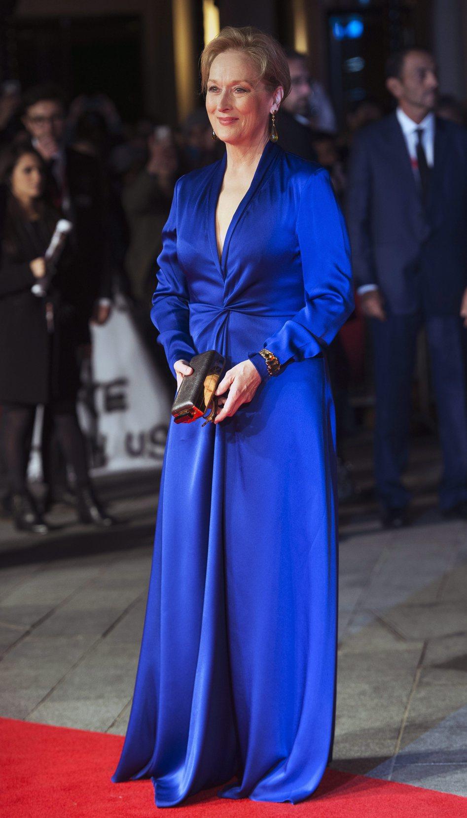 Meryl Streep a Londoni Filmfesztivál megnyitóján. Fotó: MTI/EPA