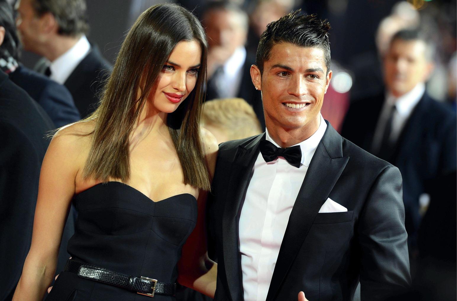 Cristiano Ronaldo és volt barátnőjével, Irina Shayk. Fotó: MTI/EPA