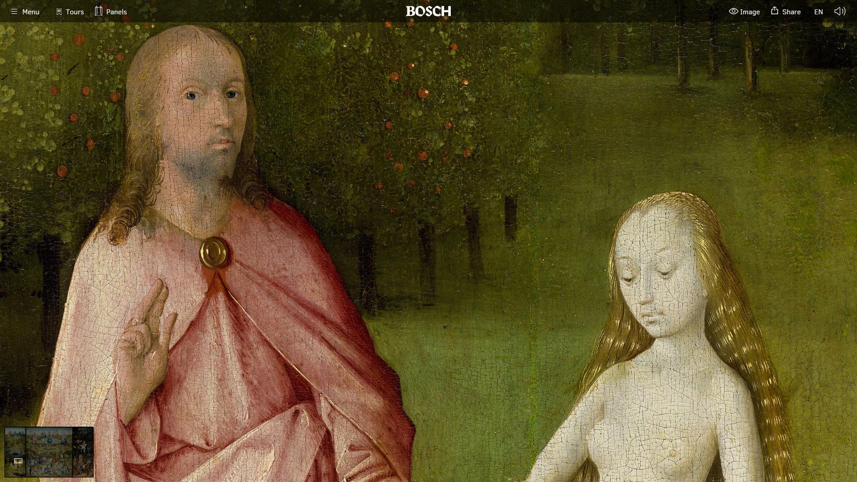 Bosch Adam es Eva