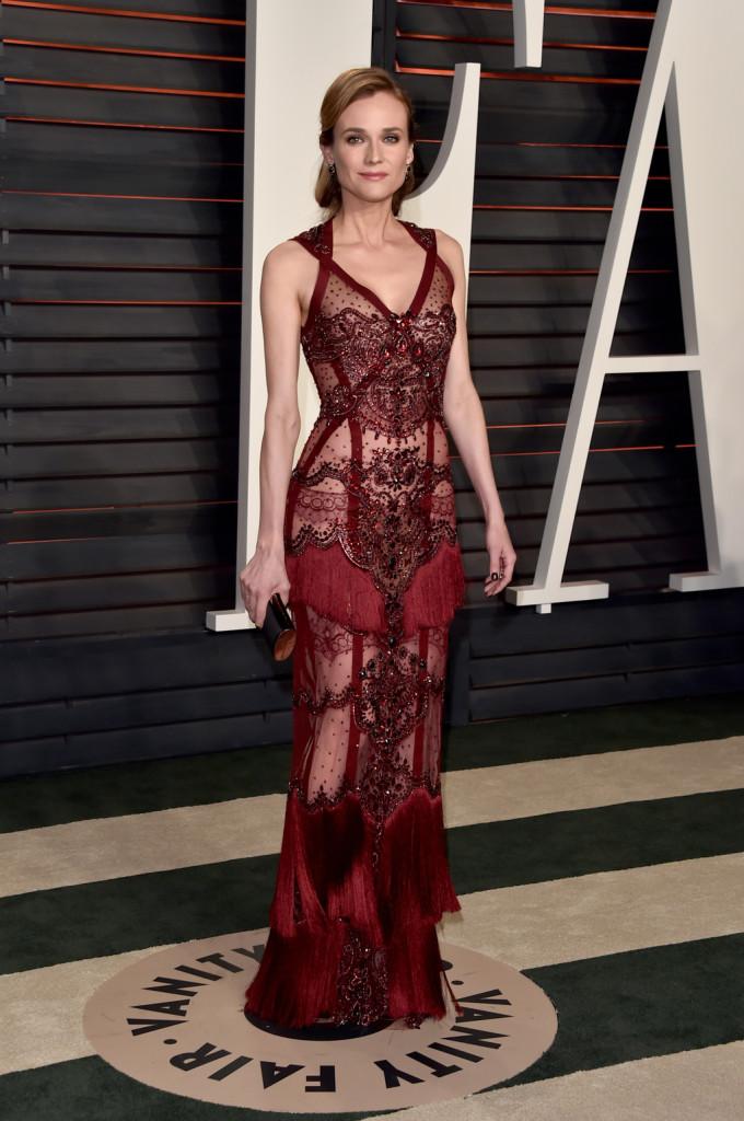 Diana Kruger, a Vanity FAiry Oscar partiján 2016-ban. Fotó: Wire Images
