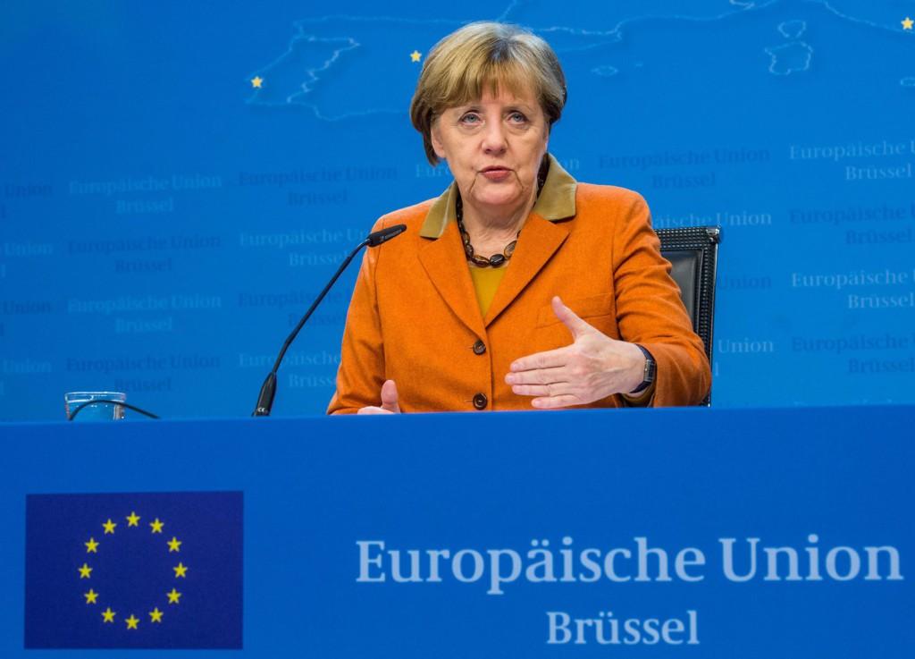 Angela Merkel német kancellár. EPA/STEPHANIE LECOCQ