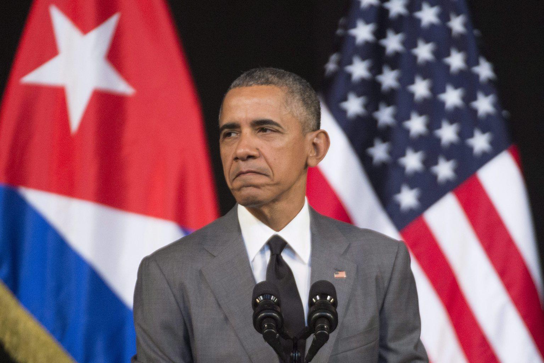 Barack Obama amerikai elnök a havannai El Gran Teatro színházban tartott beszédén 2016. március 22-én, a Kubában tett háromnapos hivatalos látogatásának utolsó napján. Nyolcvannyolc év után Obama az első amerikai elnök, aki ellátogatott a karibi szigetországba. (MTI/EPA/Michael Reynolds)