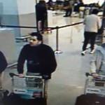 Brüsszel, 2016. március 22.<br /> A belga rendőrség által közreadott, a biztonsági kamera felvételéről készített kép, amelyen három gyanúsított látható a brüsszeli Zaventem nemzetközi repülőtéren 2016. március 22-én, mielőtt két pokogép robban a légi kikötőben. A belga fővárosban az európai uniós intézmények közelében lévő metróállomáson is robbantásos merényletet hajtottak végre feltehetőleg az Iszlám Állam dzsihadista szervezet terroristái. A merényletek következtében legalább harmincnégy ember életét vesztette, több mint kétszáz megsebesült. (MTI/AP/Belga rendőrség)