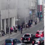 Robbanás történt kedd reggel a brüsszeli metróban a Mallbeek állomásnál, az uniós negyed szívében, néhány méterre  a Gare de Bruxelles-Schuman vonatállomástól azt követően, hogy kettős robbanás történt a brüsszeli Zaventem nemzetközi repülőtéren is korábban (Fotó: Twitter)
