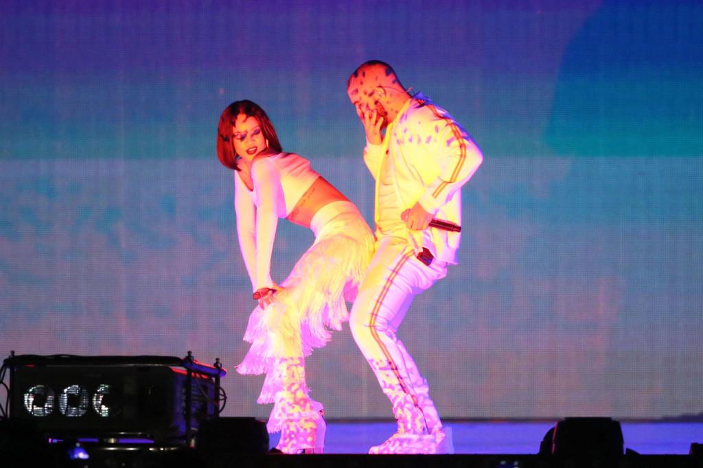 Rihanna és Drake a Brit Awards, átadóján. Fotó: Rex