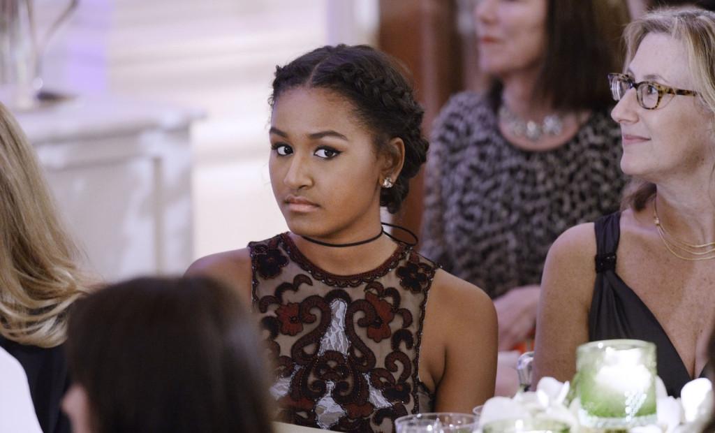Sasha Obama - Barack Obama lánya. Fotó: Sipa USA