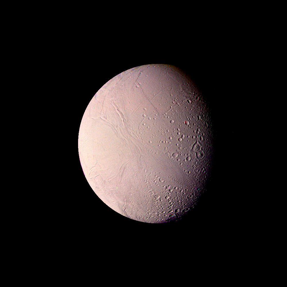 Enkeladusz-fotói aktivitásra utaltak, de a hold titkát már a Cassini tárta fel. (Fotó: NASA/JPL-Caltech)