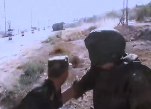 orosz és szír katona Aleppóban