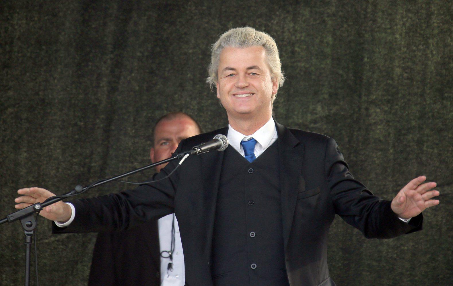 Geert Wilders, a holland szélsőjobboldali Szabadságpárt (PVV) vezetője. MTI/EPA/Jan Woitas