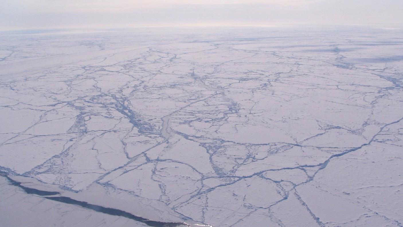 Az Északi-sark jégtakarója (Fotó: NASA)