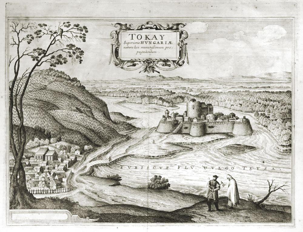 Egy Tokaj várát ábrázoló kép Georg Hoefnageltől.