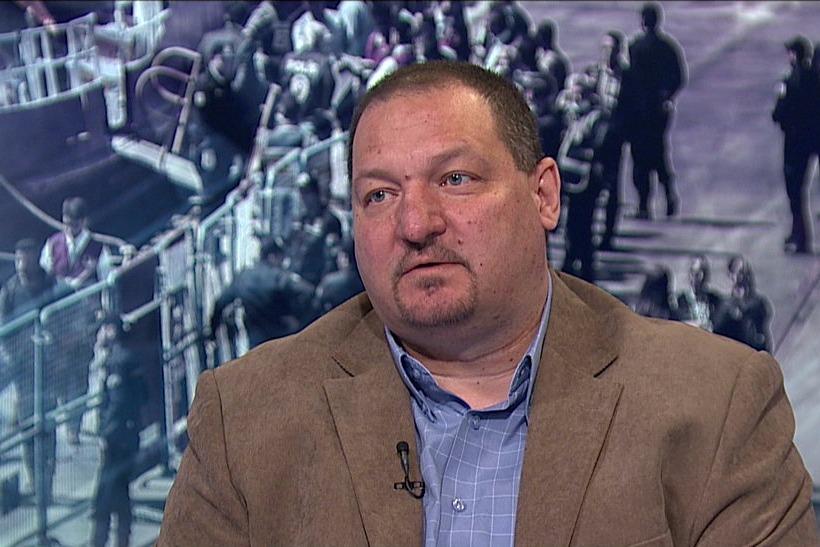 Németh Szilárd az M1 Aktuális csatornán. Fotó: MTVA Újmédia
