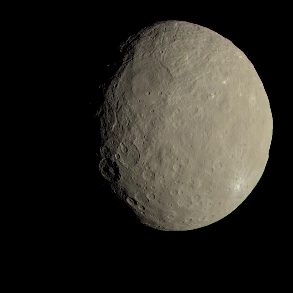 Ilyennek tűnne a Ceres az emberi szemnek a kutatók mérései szerint. (Fotó: NASA/JPL-Caltech/UCLA/MPS/DLR/IDA)