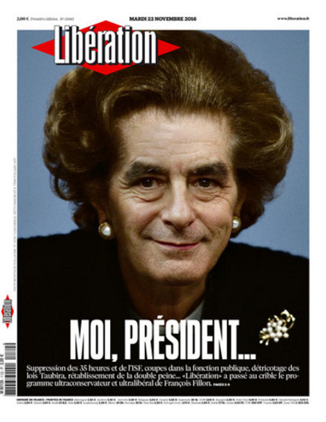 Fillon köztudottan nagy Margaret Thatcher-követő, és erre a francia lapok is felfigyeltek