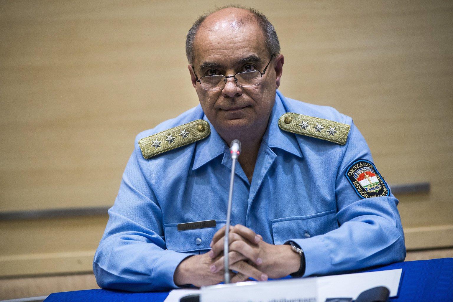 Papp Károly altábornagy, országos rendőrfőkapitány (MTI Fotó: Marjai János)