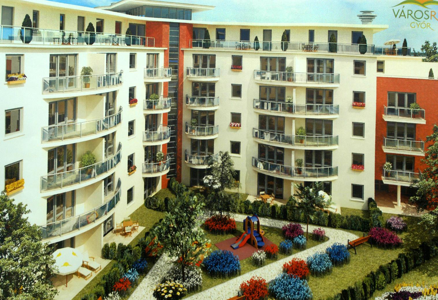 Látványtervek egy új lakótelepről - képünk illusztráció (Fotó: MTI)